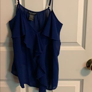 blue 'about a girl' tank top